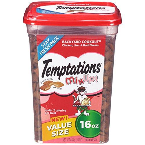 TEMPTATIONS MixUps Treats for Cats BACKYARD COOKOUT Flavor 16 Ounces