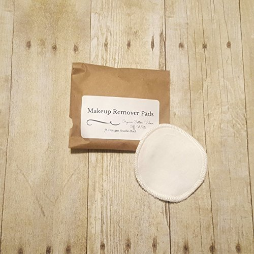 Set of 10 Off-White Organic Cotton Velour Makeup Remover Pads by JS Designs Studio