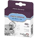 3L Photo Corners Self Adhesive, 250/Pkg, 3/8-Inch, Clear