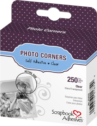 3L Photo Corners Self Adhesive 250-Pack 3//8-Inch Black