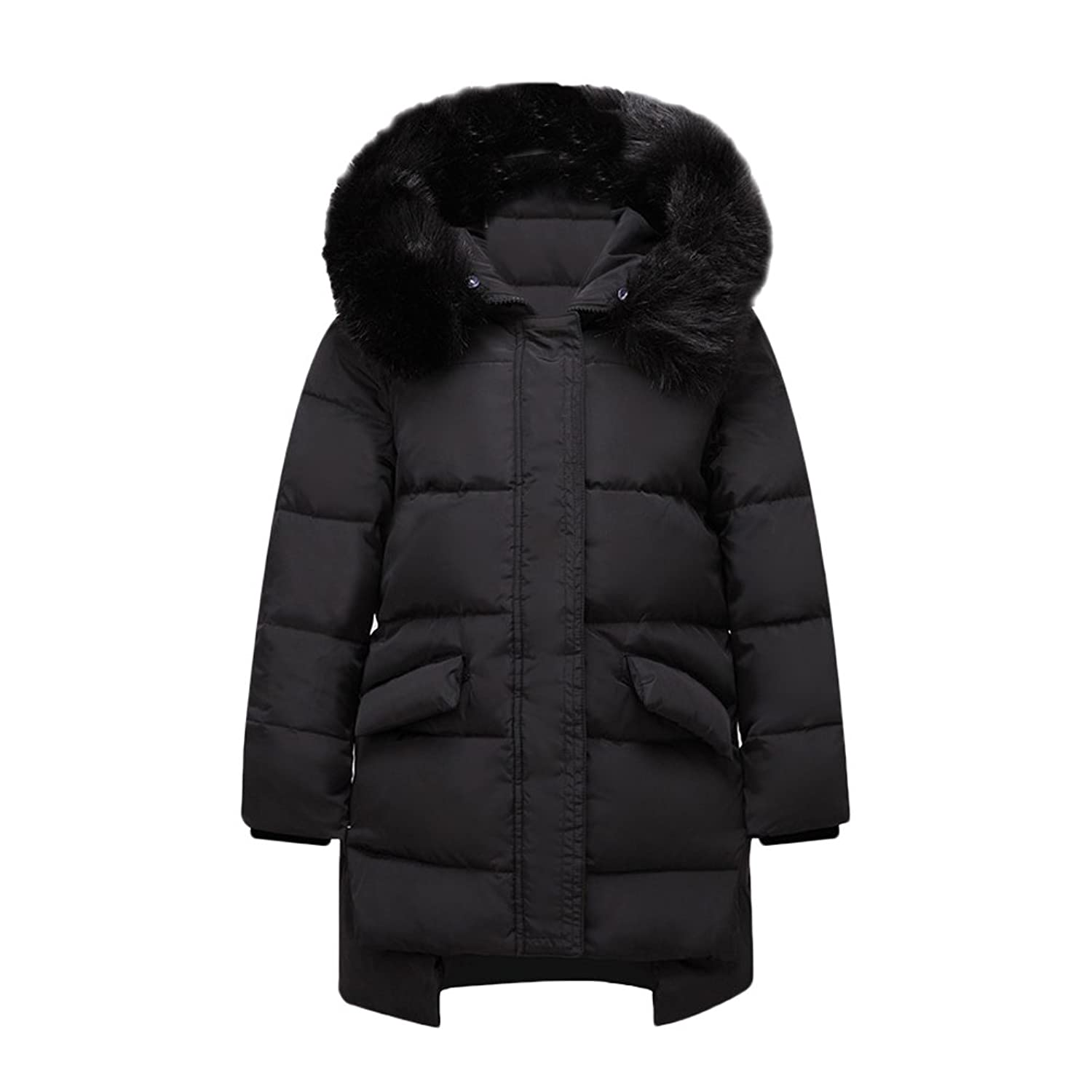 Zhuhaitf Winter Thicker Warm Cotton Casual Outwear Kids Girls Hooded Down Jacket