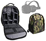 DURAGADGET Premium Quality, Camouflage Water-Resistant Backpack with Customizable Interior & Raincover Compatible with the HTC Vive Virtual Reality Headset