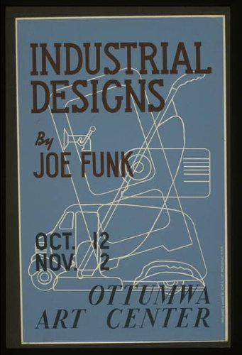Photo: Joe Funk,Ottumwa Art Center,Iowa,IA,WPA Art Program,1936-1940 Art Center Iowa