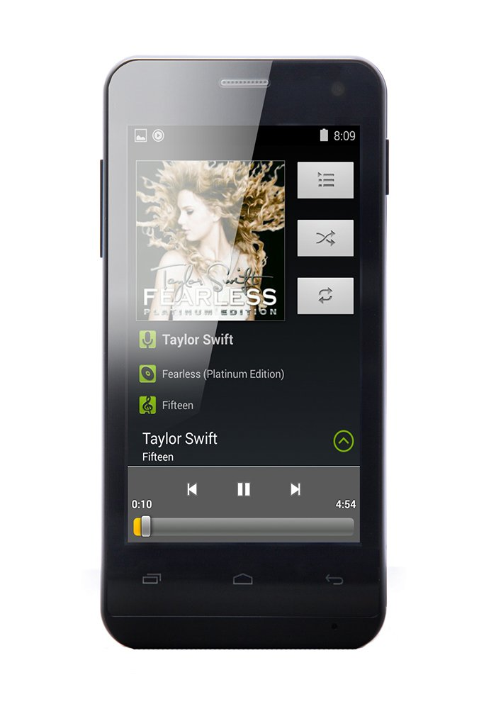 AGPtEK IMP 4-Inch 4 GB Touchscreen MP3 Player and Video Player, support up to 32 GB Micro SD Card (Black)