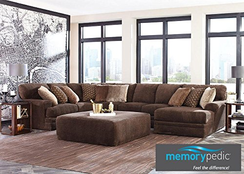 Denali Chocolate 3 Pc. Sectional With Chaise - Sofa