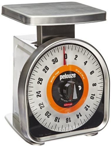 Rubbermaid Commercial Pelouze FGY32R Aluminum Y-Line Mechanical Portion-Control Food Scale, - Scale Dial Control Portion