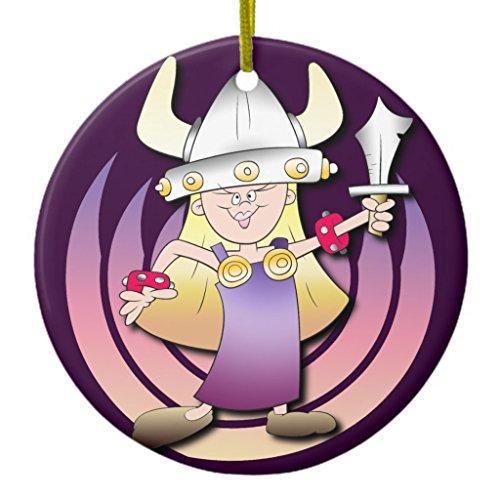 Zazzle Viking Heroine Ceramic Ornament (Viking Helmut)
