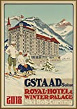 "Wall Calendar 2018 [12 pages 8""x11""] European Ski Alpine Resort Vintage Travel Poster Sport Ads"