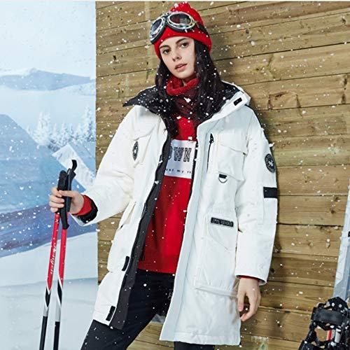Al Abajo White Pareja Nieve Scytsd Aire Chaqueta Ropa Hoodded 2018 Acolchado Invierno Gris Abrigo Colección De Pato Libre Mujeres Parka 0Sx1xwq