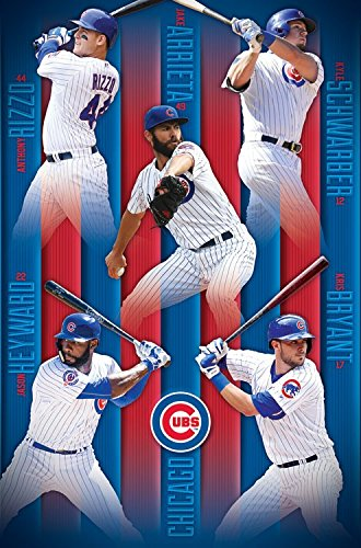 Cubs - Poster-Bryant-Rizzo-Arrieta Mlb Rolled Official Licensed New Sealed