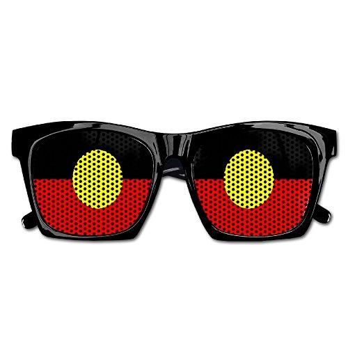 Aboriginal Flagof Australia Party Sunglasses Mesh Lens Glasses Costume Sunglasses Eyewear For Groom Party Wedding - Nerd Australia Glasses