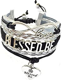Braided Adjustable Blessed Be Bracelet Pagan Wiccan Jewelry Gift
