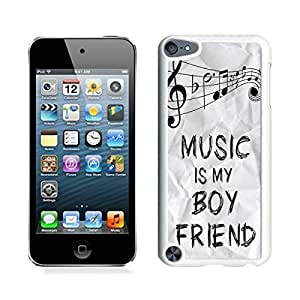 high quality Music Is My Boyfriend iPod touch 5 Case White Cover by lolosakes