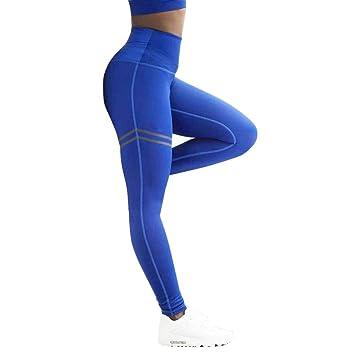 Leggings Deporte Mujer Sexy 2018,Mallas Yoga Mujer Leggins Pantalones Deportivos para Mujer Leggings de Yoga de Cintura Alta Pantalones elásticos de ...