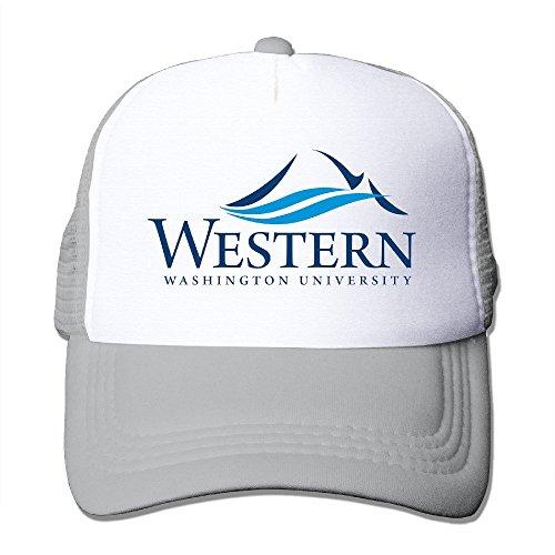 sombrero béisbol nailon Ceniza 100 de Universidad de adultos Gorra Occidental deporte Washington 8paZw