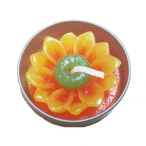 Candle : Handmade Candles:scented Sunflower Tealight Candles in Metal Cups for Home, Party Decoration, Gift, Souvenir(10 Pieces)
