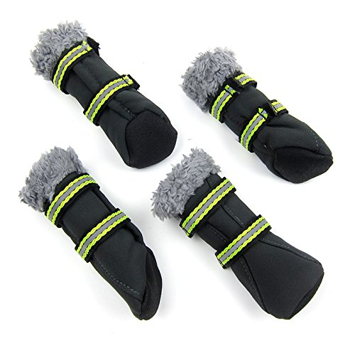 Alfie Pet by Petoga Couture - Drew All Weather Set of 4 Dog Boots/Sneakers - Color Grey, Size: XL (Dog Designer Boots)