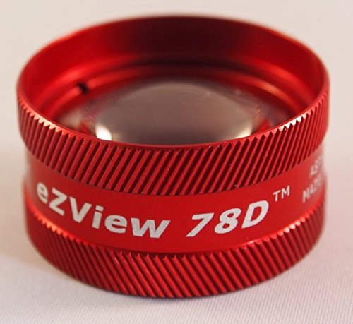 Red Ion Lens - 78D Condensing Lens - For use with a Biomicroscopy Slit Lamp (Red)