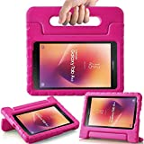 AVAWO Kids Case for New Samsung Galaxy Tab A 8.0 2017 (SM-T380/SM-T385) - Shock-Proof Light Weight Super Protection Handle Stand Case for Samsung Galaxy Tab A 8-inch 2017 Tablet, Rose