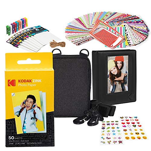 - Kodak 2x3ʺ Premium Zink Paper Starter Kit with Soft Case