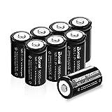 BONAI Rechargeable C Batteries 5,000mAh 1.2V Ni-MH High Capacity High Rate C Size Battery (8 Pack)