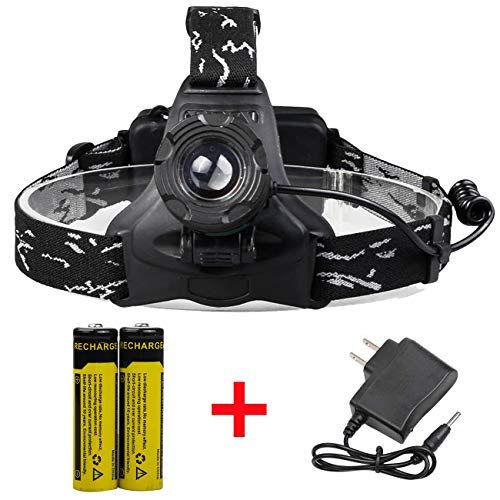 ShineTool High Performance Ultra Bright LED Headlamp 3 Modes LED Flashlight Headlight 18650 Battery & Charger Included