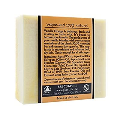 Vanilla Orange 100% Pure & Natural Aromatherapy Herbal Soap- 4 oz (113g)