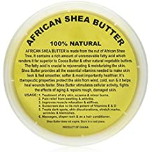 Raw Unrefined African Shea Butter - 8oz, 16oz, 32oz Containers by Sheanefit (Yellow 32oz, 32oz)