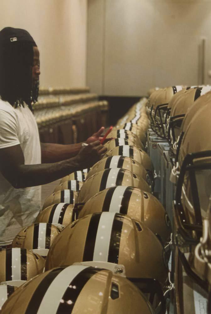 Alvin Kamara New Orleans Saints Signed Autograph Full Size Authentic On Field Proline Speed Helmet Certified