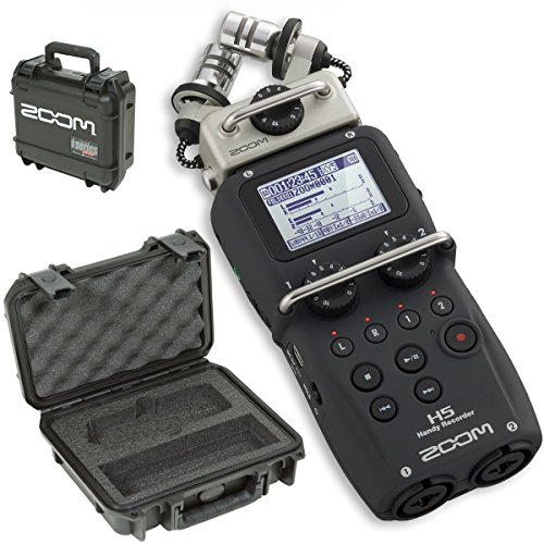 Zoom H5 Handy Recorder & SKB 3I-0907-4-H5 Waterproof Hard Case - Bundle by Zoom