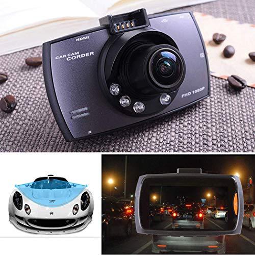 G30 1080P Car Dash Camera Car DVR, Car Driving Recorder 150 Degree Wide Angle Driving Recorder in-Visor Video, Night Vision,Motion Detection (Black)