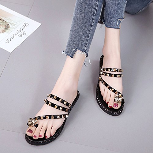Casual Grey Summer Toe Sandals slippers Fashion WHLShoes Entertainment Women'S Women'S Decoration women Spring Color Pure wXHqq176x