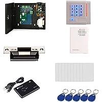 Single Door Security System Access Control Kit ID Card USB Reader Heavy Duty Electric Door Strike lock Power Supply Box RFID Keypad reader