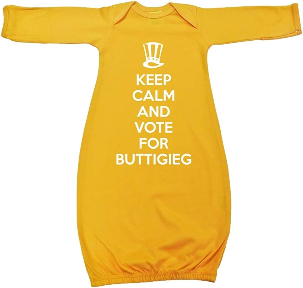 Mashed Clothing Keep Calm /& Vote for Buttigieg Presidential Election 2020 Baby Cotton Sleeper Gown