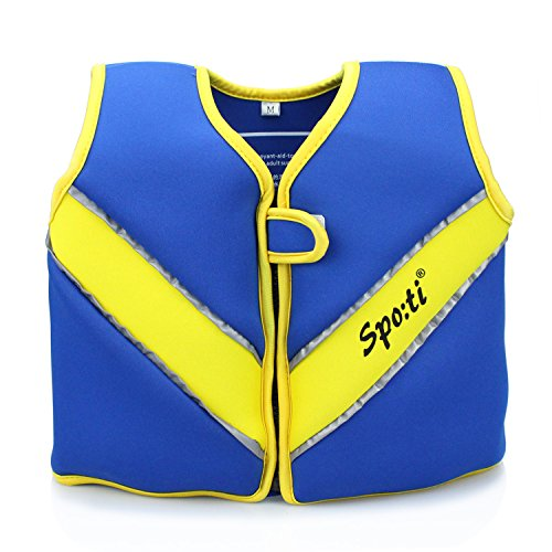 (Genwiss Swim Vest for Kids Baby Swim Jacket for Age 3-4 Years Toddler Kids Fit 28-38 lbs,Size Medium, Blue, Yellow)