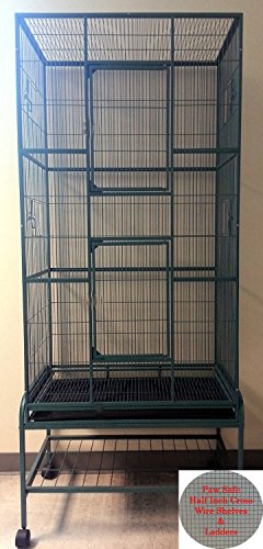 2 Color, Extra Large Tall 3 Levels Ferret Chinchilla Sugar Glider Squirrel Animal Cage With 1/2 Inch Cross Shelves and Ladders, 30