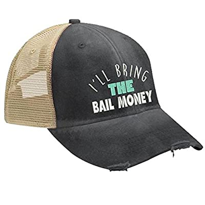 Piper Lou - I'll Bring The Bail Money Trucker Hat with Snapback Enclosure