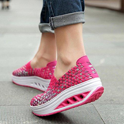 brand new b5f22 d8f3a Donna Sneaker Running Beauty Da Ginnastica Scarpe luo Estive Zeppa Sportive  Sneakers C Basse Casual Tennis Outdoor qEExwvr54