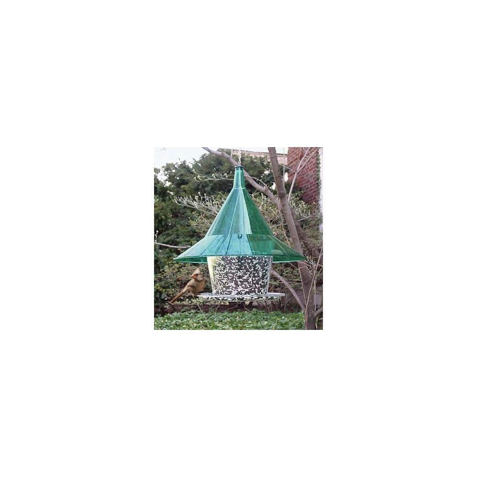 Sky Cafe Squirrel Proof Bird Feeder w/Green Dome