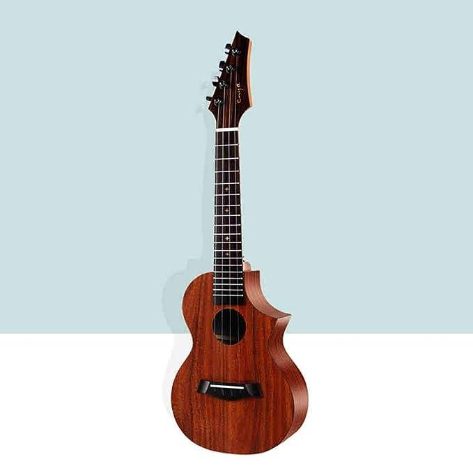 Miiliedy Chapa profesional Ukulele Principiantes Niños Adultos Práctica Autoestudio Tocando una guitarra pequeña de 23 pulgadas con correa de bolsa Cuerdas ...
