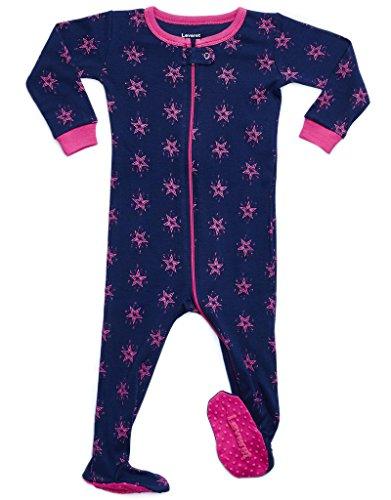 Leveret Kids Stars Baby Girls Footed Pajamas Sleeper
