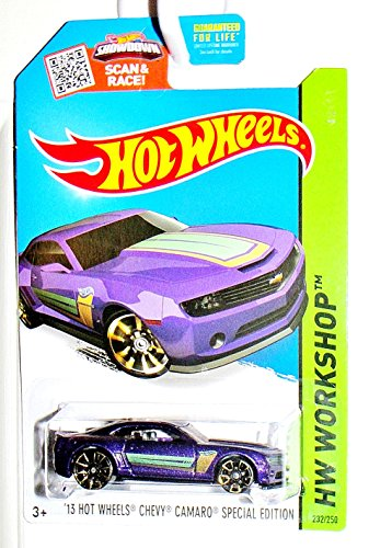 Hot Wheels, 2015 HW Workshop, '13 Hot Wheels Chevy Camaro Special Edition [Purple] - Outlet Collins