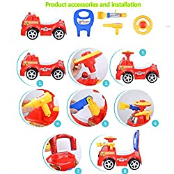 AMOFINY Baby Toys Baby Walking Scooter Backrest Ex