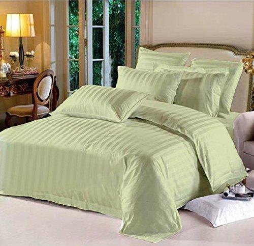 Lasin Bedding, Hotel Collection Stripe Super Soft, California King/King 100% Cotton 3pcs Duvet Cover Pillow Case Bedding Set, ()