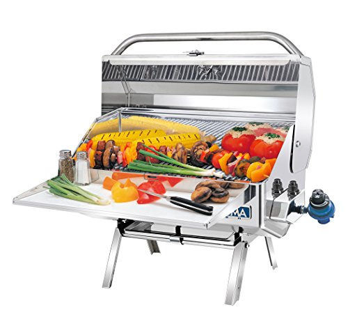 - Magma Products, A10-918-2 Newport 2 Gourmet Series Gas Grill, Polished Stainless Steel