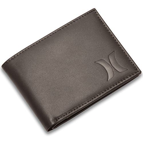 Hurley Men's Leather Wallet, Velvet Brown (220), One (Icon Leather Wallet)