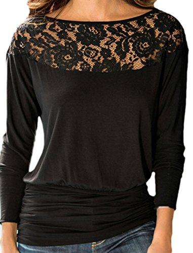 erdbeerloft - Camiseta de manga larga - Opaco - para mujer negro 38
