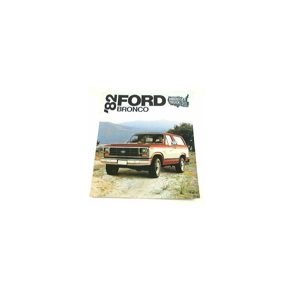 1982 82 Ford BRONCO Truck BROCHURE XLT Lariat XLS