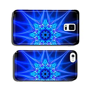 Blue glowing plasma flower in space cell phone cover case iPhone6