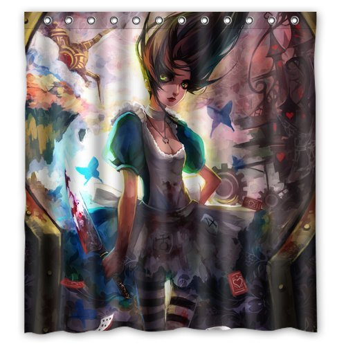 Alice Madness Returns Custom Personalized Waterproof Shower Curtain Bathroom Curtains 60x72 inches